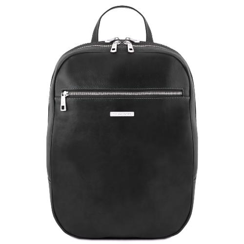 Leather Backpack for Laptop Black - Tuscany Leather -