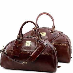 Leather Travel Set for Men or Women Brown- Tuscany Leather -