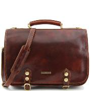 Leather Business Bag for Men or Women Brown - Tuscany Leather –