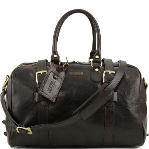 Leather Travel Bag for Women Dark Brown - Tuscany Leather -