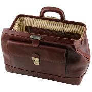 Leather Doctor Bag Bernini Brown  - Tuscany Leather -
