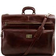 Leather Garment Bag Brown - Tuscany Leather –