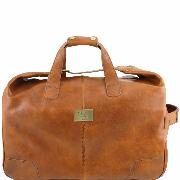 Trolley Leather Bag Barbados Honey - Tuscany Leather -