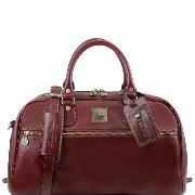 Travel Leather Bag Brown -Tuscany Leather-