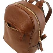 Leather Backpack Red for Women - Tuscany Leather -