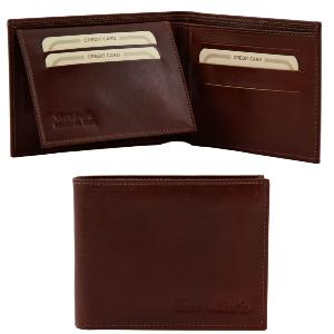 Leather Wallet for Men Biagio Brown -Tuscany Leather-