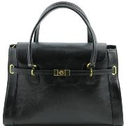 Lady Classic Handle Bag uk Black - Tuscany Leather -
