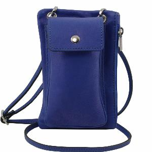 Mini Cross Bag Blue - Tuscany Leather