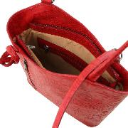 Leather Convertible Bag Women Red - Tuscany Leather -