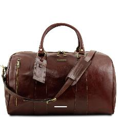 Large Soft Leather Travel Bag Brown - Tuscany Leather -