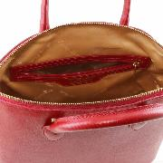 Leather Tote Bag for Women Dark Red - Tuscany Leather -