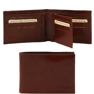 Leather Wallet for Men Amadeo Brown - Tuscany Leather -