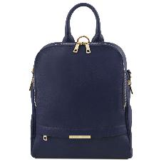 Leather Backpack Blue for Women - Tuscany Leather -