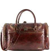 Travel Leather Bag - Tuscany Leather - Brown