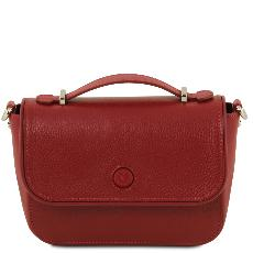 Hammered Leather Clutch Handbag uk Red- Tuscany Leather -