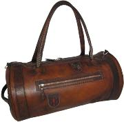 Leather Travel Bag for Men Brown - Pratesi -