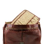 Detachable Separating Module with Pockets Brown -Tuscany Leather-