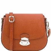 Leather Shoulder Bag for Women Honey  -Tuscany Leather -