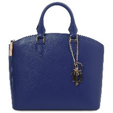 Leather Tote Bag for Women - Blue Tuscany Leather -