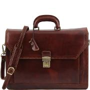 Leather Briefcase for Men or Women Brown -Tuscany Leather -
