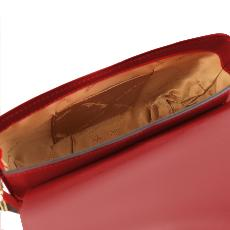 Leather Shoulder Bag for Women Red - Tuscany Leather -
