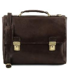 Leather Laptop Case Dark Brown - Tuscany Leather -