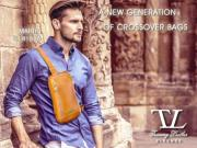 Leather Shoulder Bag for Men Martin Brown - Tuscany Leather -