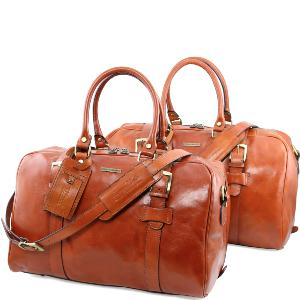 68624030a90d Italian Made Leather Travel Bag for Woman and Man