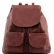 Leather Backpack Large Size for Women Brown - Tuscany Leather -