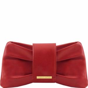 Leather Clutch Handbag for Women Red - Tuscany Leather –