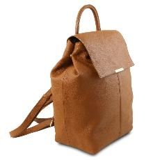 Soft Leather Backpack for Women Honey- Tuscany Leather -