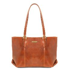 Leather Shoulder Bag for Women - Tuscany Leather -