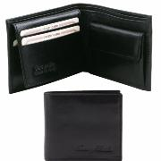 Leather Wallet for Men Black -Tuscany Leather-