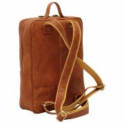 Leather Backpack for Laptop Cognac -OLD ANGLER-