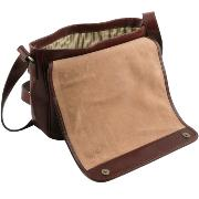 Leather Shoulder Bag for Men Messenger Brown - Tuscany Leather –