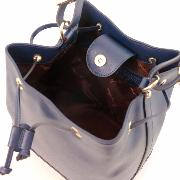 Leather Shoulder Bag for Women Blue - Tuscany Leather -