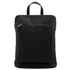 Soft Leather Backpack Black for Women - Tuscany Leather -