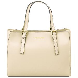 Leather Handbag for Women Beige - Tuscany Leather -