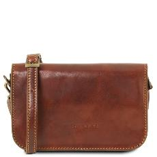 Small Leather Shoulder Bag for Women -Tuscany Leather -