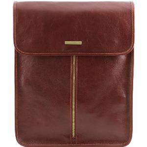 Leather Travel Shirt Case Brown - Tuscany Leather -
