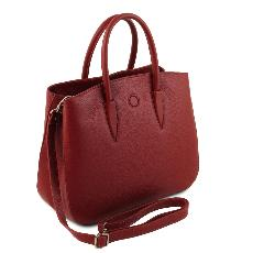 Soft Leather Handbag for Women Red - Tuscany Leather -