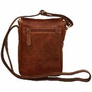 Leather Cross Body Bag for Men Brown -Old Angler-