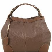 Leather Bag with Shoulder Strap for Women - Tuscany Leather -